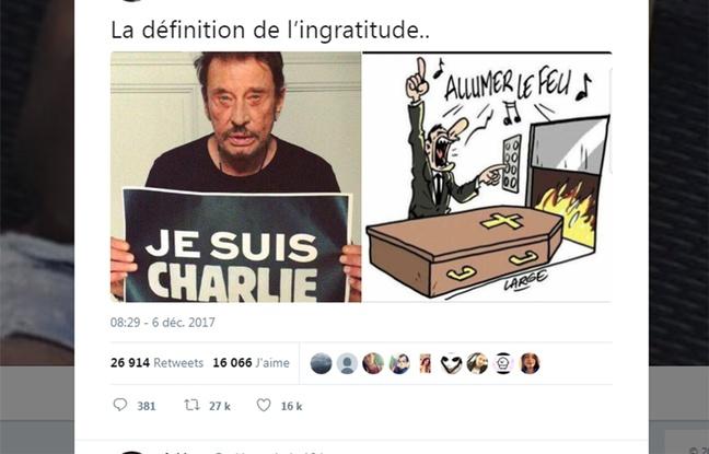 Johnny Halliday Charlie Hebdo