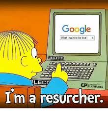 je suis un chercheur (des internets)