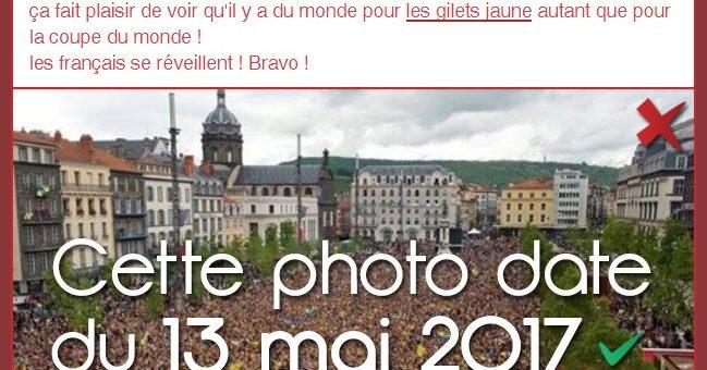 foto de Gilets jaunes militantisme et manipulation d image : recycler une vieille photo et changer la