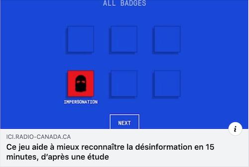 Ce jeu aide à mieux reconnaître la désinformation en 15 minutes, d'après une étude