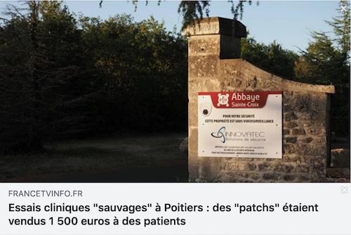 Essais cliniques « sauvages » à Poitiers : des « patchs » étaient vendus 1 500 euros à des patients