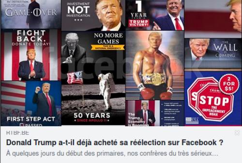 Donald Trump a-t-il déjà acheté sa réélection sur Facebook?